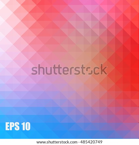 abstract geometric pattern of triangles for background