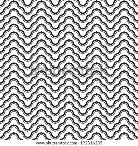 Abstract geometric pattern, style chevron . A seamless vector background. Black and white texture.