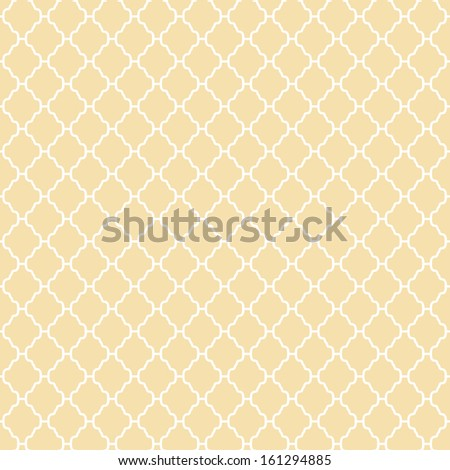 Abstract geometric pattern (tiling). Vector seamless vintage background. Retro yellow and white colors. Endless texture can be used for printing onto fabric and paper or scrap booking. - stock vector