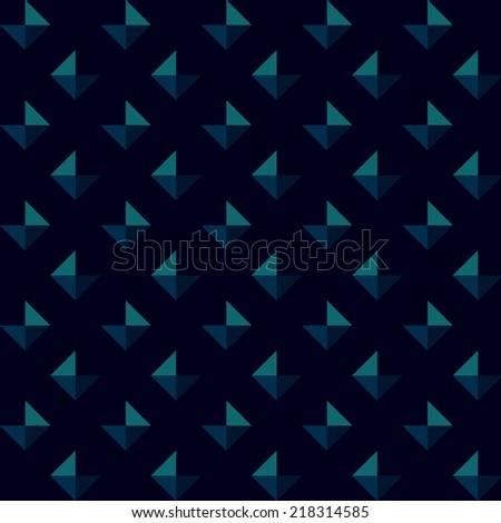 Abstract geometric pattern. Vector art - stock vector
