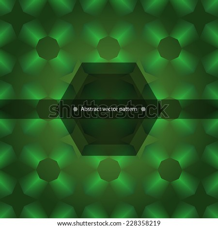 Abstract geometric pattern vector in shades of green. vector illustration - stock vector