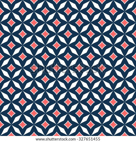 Abstract geometric pattern vector in two colors  - stock vector
