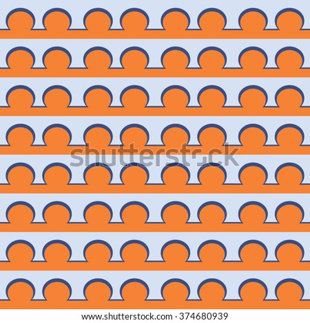 Abstract geometric pattern vector, lines and circles vector, chain pattern, rings pattern, design element - stock vector