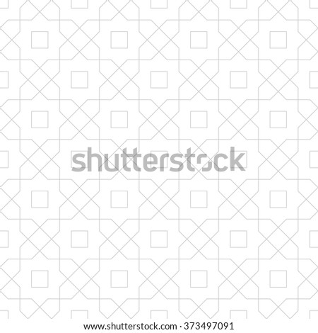 Abstract geometric pattern with crossing thin lines. Stylish texture in gray color. Seamless linear pattern. - stock vector