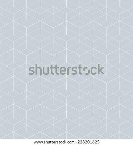 Abstract geometric pattern with rhombuses. Repeating seamless vector background. Gray and white texture. - stock vector