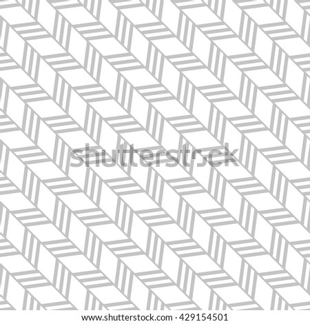 Abstract geometric pattern with stripes, lines. A seamless vector background. Gray and white texture. - stock vector