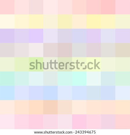 Abstract geometric seamless background template. Fun and very colorful series of square or pixel in all the colors and shades of the spectrum, light and pastel . vector art image illustration, eps10 - stock vector