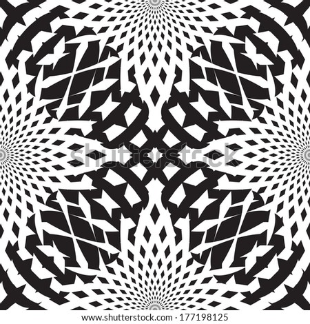 Abstract geometric seamless pattern - stock vector
