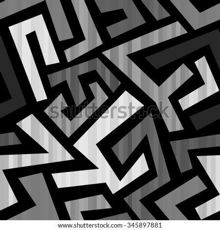 Abstract geometric seamless pattern. - stock vector