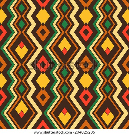 Abstract geometric seamless pattern African style. Vector background  - stock vector