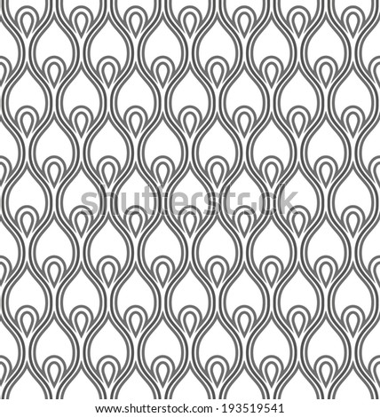 Abstract geometric seamless pattern. Black and white pattern. - stock vector