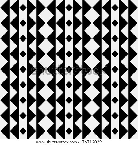 Abstract geometric seamless pattern. Black and white style - stock vector