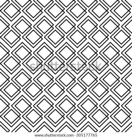 Abstract geometric seamless pattern. Black and white style pattern with  line. - stock vector
