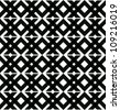 Abstract geometric seamless pattern. Black and white style pattern with rhombus and line. - stock photo