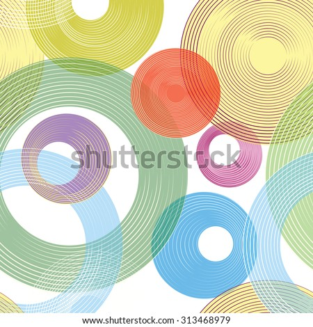 Abstract geometric seamless pattern. Circle ornamental background. Circles.