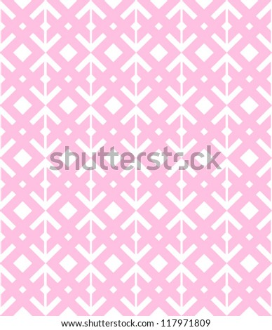 Abstract geometric seamless pattern. Ethnic blue ornament with rhombus and line. - stock vector