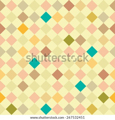 Abstract geometric seamless pattern in vector. Colorful cute background.