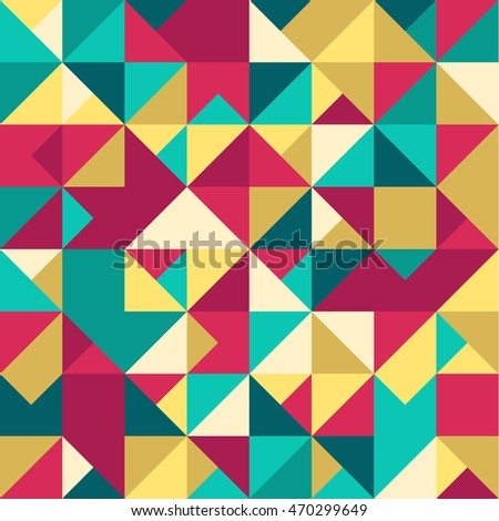 Abstract Geometric Seamless Pattern. Modern stylish texture. Repeating geometric tiles