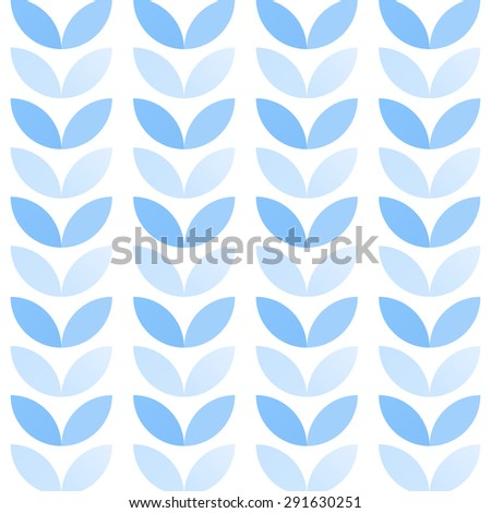 Abstract geometric seamless pattern of colorful petals in winter colors - stock vector