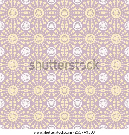 Abstract geometric seamless pattern. Pastel style pattern with circle and line. Endless texture for wallpaper, fill, web page background, surface texture. - stock vector