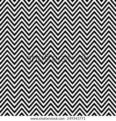 Abstract geometric seamless pattern. Simple black and white background.Vector illustration. Classic design. Chevron pattern - stock vector