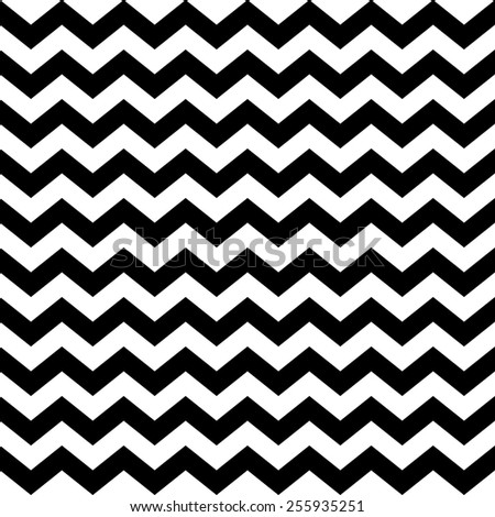 Abstract geometric seamless pattern. Simple black and white background.Vector illustration. Classic design. Chevron pattern. Zig zag pattern. - stock vector
