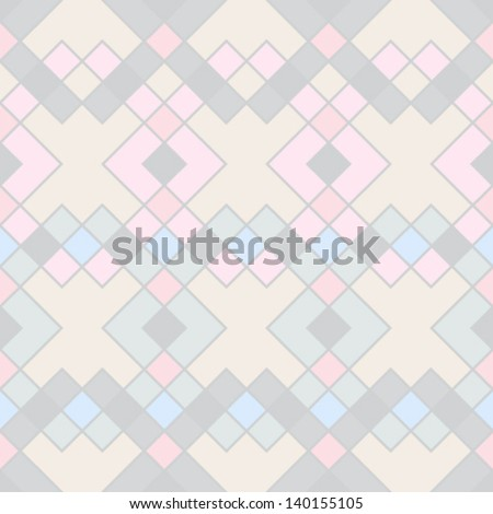 Abstract geometric seamless pattern. Style pattern with rhombus and lines. - stock vector