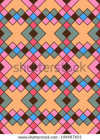 Abstract geometric seamless pattern. Style pattern with rhombus and lines - stock vector
