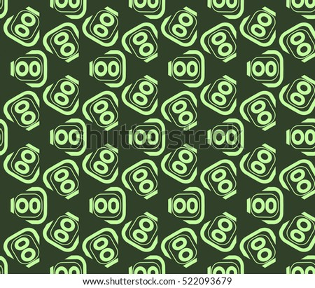 abstract geometric seamless pattern. vector. green