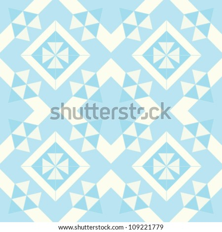 Abstract geometric seamless pattern. Winter ornament with triangle and line. Aztec style. - stock vector