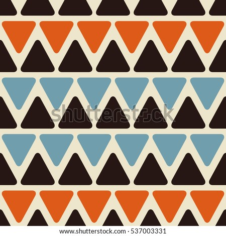 Abstract Geometric Seamless Pattern with Colorful Triangle Shapes