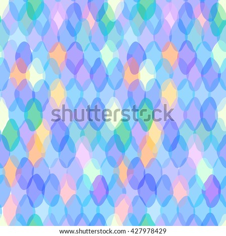 Abstract geometric seamless pattern with rhombus and squama decorative geometric and abstract contemporary elements. pink purple blue aqua lilac geometric print, ethnic hipster trendy backdrop. Vector - stock vector