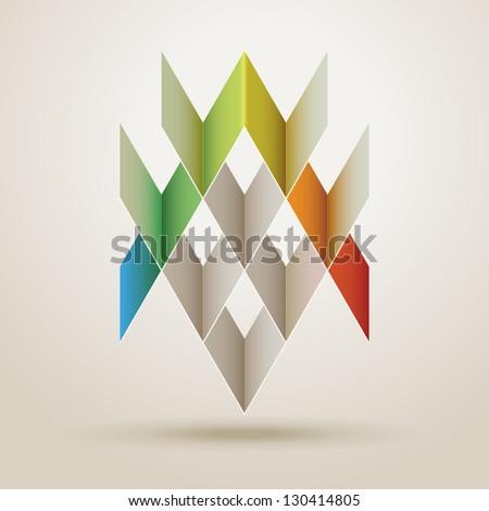 Abstract geometric shape, eps10 vector - stock vector