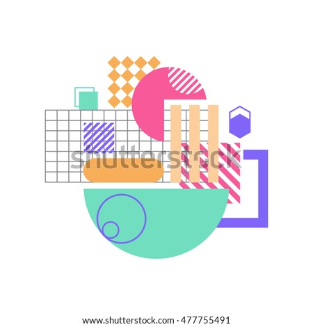 abstract geometric shape, vector illustration
