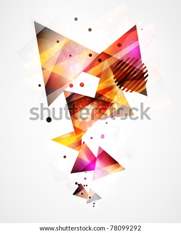 Abstract geometric shapes - stock vector