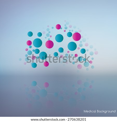 Abstract geometric shapes of molecular compounds.Color picture composition for your design.The molecular lattice.  - stock vector