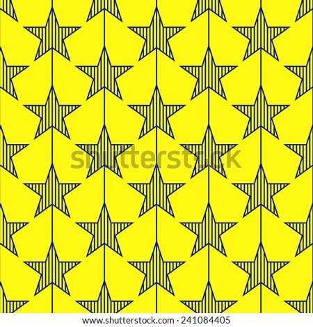 Abstract geometric star seamless pattern.  - stock vector