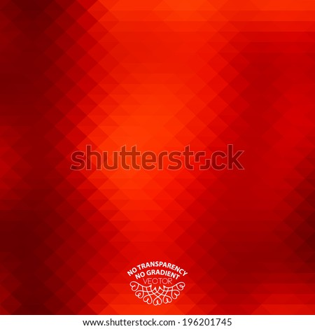 Abstract geometric style background with vibrant red color tones - stock vector