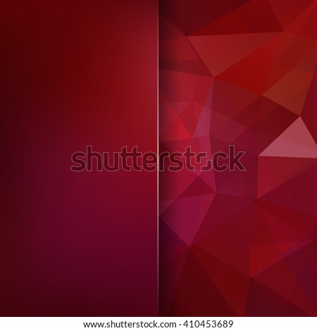 Abstract geometric style dark red background. Brown business background  Blur background with glass. Vector illustration - stock vector
