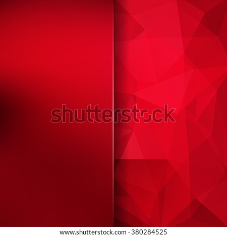 Abstract geometric style red background.  Red business background  Blur background with glass. Vector illustration - stock vector