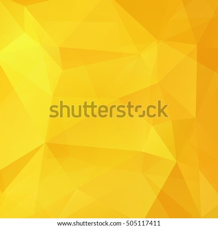 Abstract geometric style yellow background.  Vector illustration