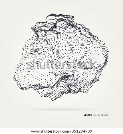 Abstract geometric technology vector design element.  - stock vector