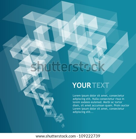 Abstract geometric template for text - stock vector