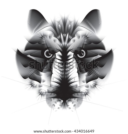 Abstract geometric tiger - stock vector