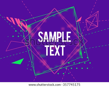Abstract geometric triangle and lines colorful vector background - stock vector