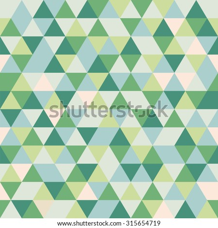 Abstract geometric triangle seamless pattern - stock vector