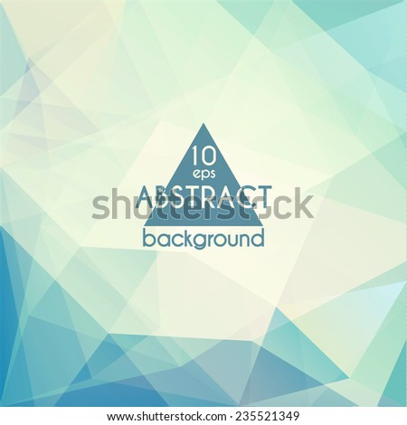 Abstract geometric triangles background - stock vector