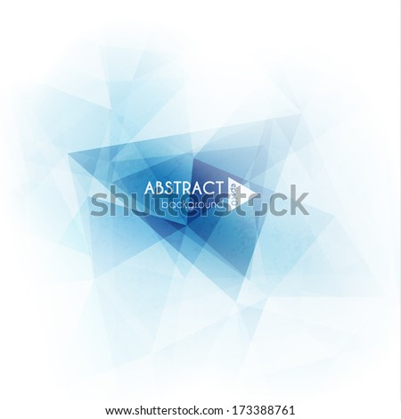 Abstract geometric triangles background  - eps10 vector - stock vector