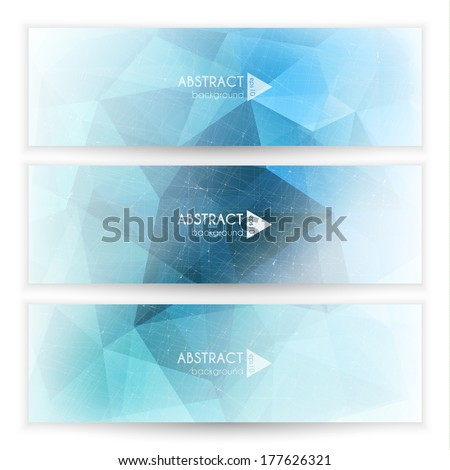 Abstract geometric trianglular banners set - eps10 - stock vector