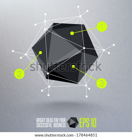 Abstract geometric vector background. - stock vector